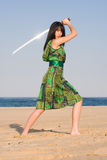 Sword Lady Stock Image