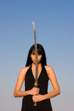Sword Lady Stock Images