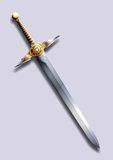 Sword - lightning Stock Images