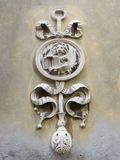 Sword and lion sculpture on wall in Venice Royalty Free Stock Image