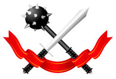 Sword and Mace illustration Royalty Free Stock Photo
