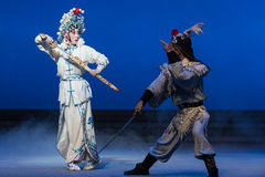"""Sword opposite-The fifth act Steal immortal-Kunqu Opera""""Madame White Snake"""" Royalty Free Stock Image"""