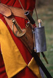 Sword and powder. Details of redcoat uniform and equipment Stock Image