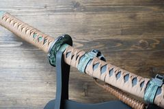 Sword of the samurai. Medieval Japanese weapons.  Stock Images