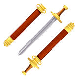 Sword and scabbard Stock Image