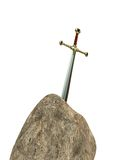 Sword and stone Royalty Free Stock Photo