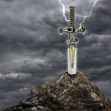 The sword in the stone Stock Photos
