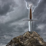 The sword in the stone Royalty Free Stock Photography