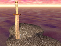 Sword In The Stone royalty free stock images
