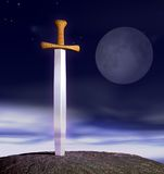 Sword in stone Royalty Free Stock Photo