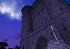 Sword In Stone With Strange Sky Phenomena Royalty Free Stock Image