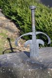 Sword in the Stone, Taunton Castle. Somerset Stock Photos