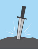 Sword Stuck in Rock Royalty Free Stock Images