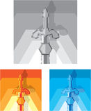 Sword stylized vector Stock Images