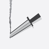 Sword Tearing Paper Royalty Free Stock Photos