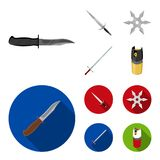 Sword, two-handed sword, gas balloon, shuriken. Weapons set collection icons in cartoon,flat style vector symbol stock stock illustration