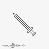 Sword vector icon Royalty Free Stock Photography