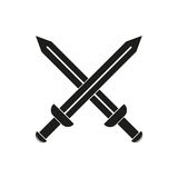 Sword vector icon. On white background vector illustration