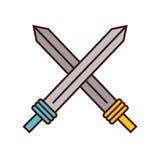 Sword weapon warrior game. Illustration design Stock Photos