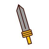 Sword weapon warrior game. Illustration design Royalty Free Stock Photo