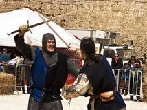 swordfight fotografering för bildbyråer