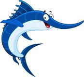 Swordfish. Illustration of a smiling swordfish Stock Photography
