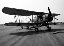 Swordfish aircraft. Historic swordfish aircraft with torpedo Royalty Free Stock Images