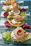 Swordfish canape Royalty Free Stock Images