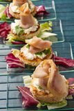 Swordfish canape Stock Photos