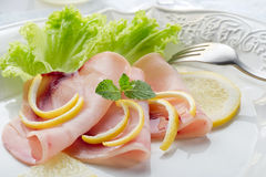 Swordfish carpaccio Stock Photos
