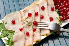 Swordfish carpaccio Stock Photo