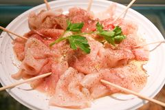 Swordfish Carpaccio, sushi stock images
