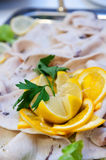 Swordfish carpaccio Royalty Free Stock Photography