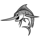 Swordfish Cartoon Illustration Royalty Free Stock Images