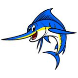Swordfish Cartoon Royalty Free Stock Photos