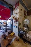 Fish counter at the historic market of Ortigia stock photo