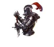 Logo dark knight. Logo dark era of the knight on a white background stock illustration