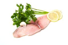 Swordfish with lemon Royalty Free Stock Photos