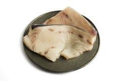 Swordfish, raw steak, isolated Royalty Free Stock Photos