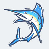 Swordfish sea life vector illustration Royalty Free Stock Photos