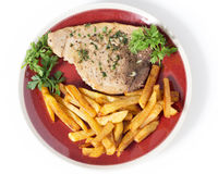 Swordfish steak meal Stock Photos