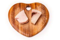 Swordfish steaks on cutting board Royalty Free Stock Photos