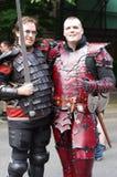 Swordplay enthusiasts Stock Images