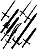 Swords. Isolated on white illustration Stock Photos