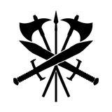 Swords with axes and spear. Stock Image