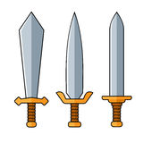 Swords. Cartoon Style Set on White Background. Vector Royalty Free Stock Image