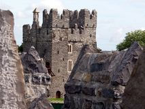 Swords Castle. A view of Swords Castle, Co. Dublin, Ireland Royalty Free Stock Images