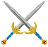 Swords crossed Royalty Free Stock Photography