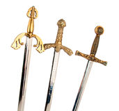 Swords isolated Stock Images
