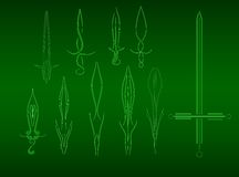 Swords from lines Royalty Free Stock Photography